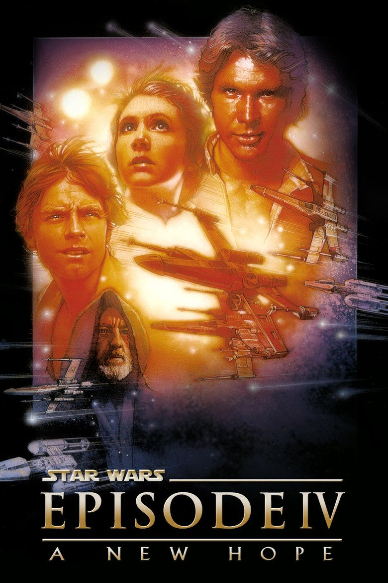 "Poster for the movie ""Star Wars: Episode IV - A New Hope"""